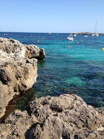 Hotel Club Sur Menorca:                   view from bar on binibequer beach.