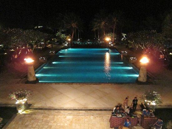 Conrad Bali: View from lobby at night