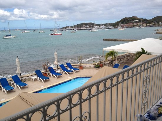 Le Beach Hôtel:                   view from seafront room