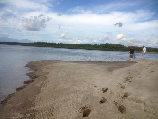 Boca Chica Plantation Club & Resort: A walk in the beach, notice how the footprints sink in the sand