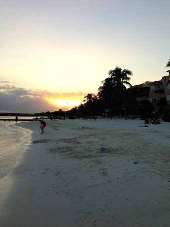 Sunset on the beach in front of Villas del Mar