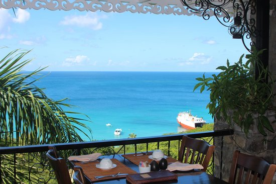 Firefly Mustique Hotel:                   View from dining area