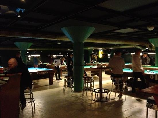Corona Bar for Billiards : pool area...away from the bar