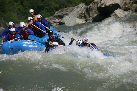 American Whitewater Expeditions: North Fork Rafting action