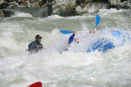 American Whitewater Expeditions: Pat running guts on the North Fork American