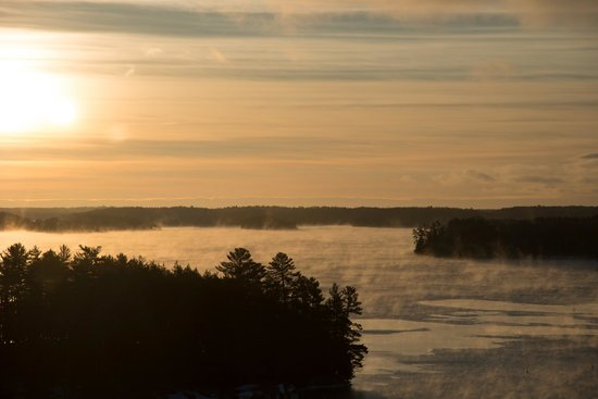 JW Marriott The Rosseau Muskoka Resort & Spa:                   Morning view, -19 on the lake!