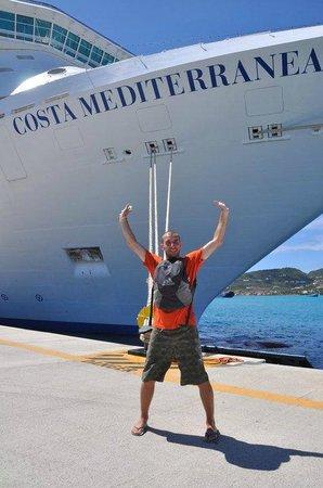 Saint-Martin, St-Martin/St Maarten: Desdembarcando del Costa Mediterranea