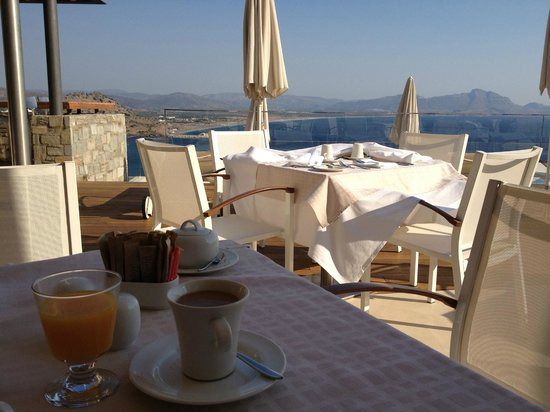 Lindos Blu:                   View at breakfast