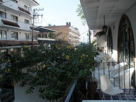 Hotel Casa Dona Susana:                   Looking towards beach from balcony