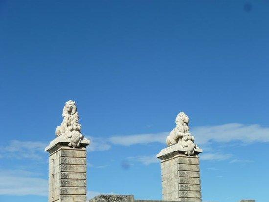 Mia Casa - Maison d'hote :                   2 lions guarding the entrance