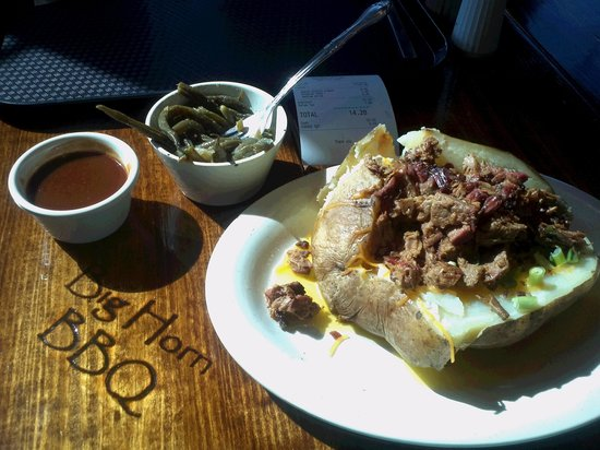 Big Horn BBQ:                   stuffed bbq beef potato