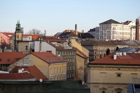 Park Inn Hotel Prague: View from balcony - uninspiring