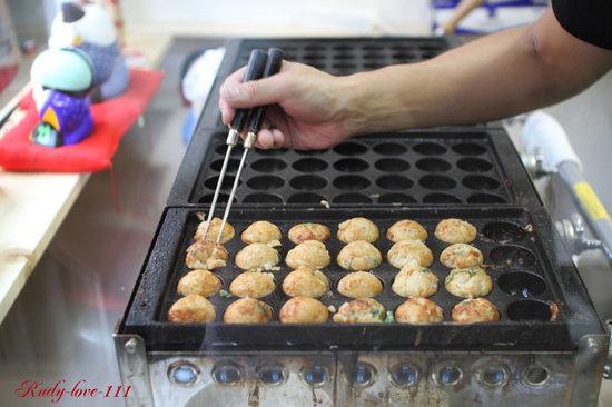 Yatai: haciendo takoyaki