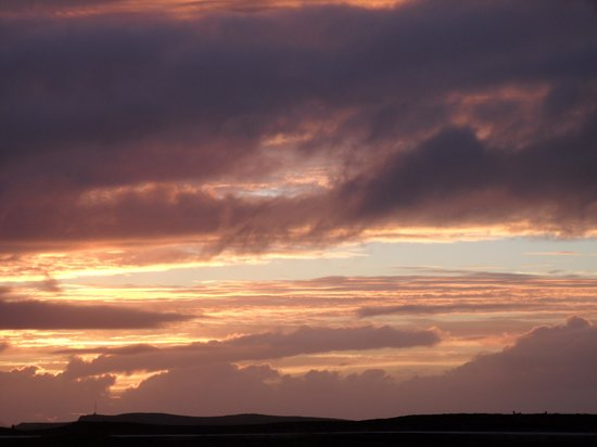 Golden Circle Route: Sunset view from Gulfoss