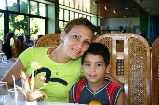 Club Amigo Carisol Los Corales: MARLEIDIS AND HER SON-LOS CORALES,SANTIAGO DE CUBA