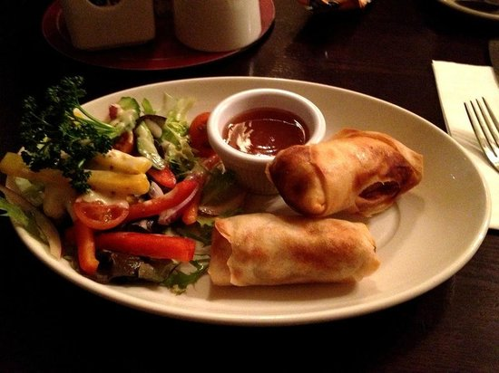 The Carraig Hotel: Duck Spring Rolls - Amazing