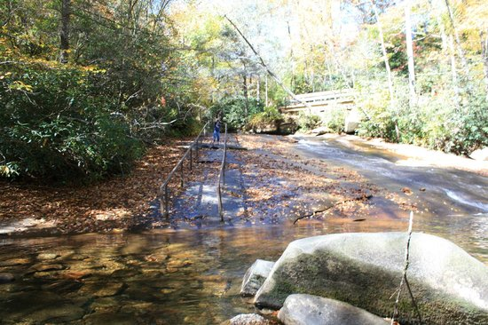 Pisgah Forest, NC:                   Sliding rock in October