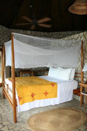 Rockhouse Hotel:                   Bed facing the ocean