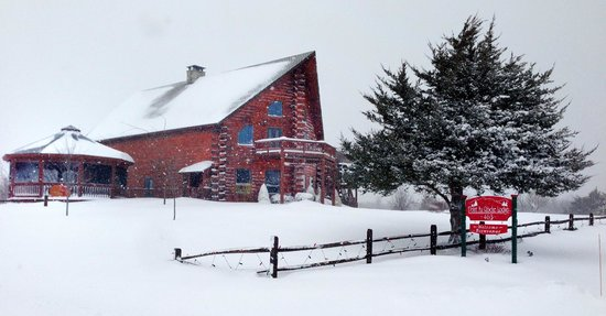 Point Au Roche Lodge : Winter at the lodge