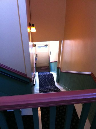 Nobody's Inn: Stairway from Main St.