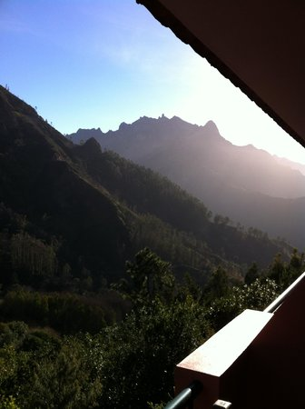 Hotel Encumeada:                   Early morning sun coming over the mountain