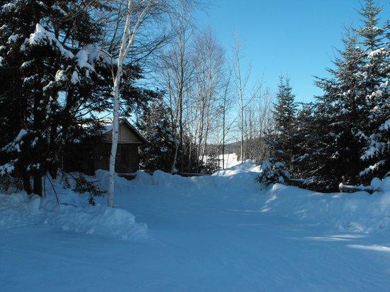 Manoir des pins: petit sentier pour la raquette ou ski de font