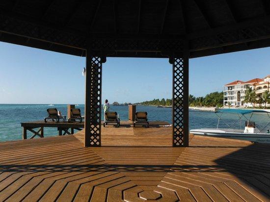 Grand Caribe Belize Resort and Condominiums:                   Huge Dock at Grand Caribe