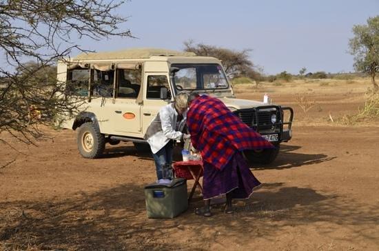 Porini Amboseli Camp :                   Tea on arrival at Selenkay Airstrip