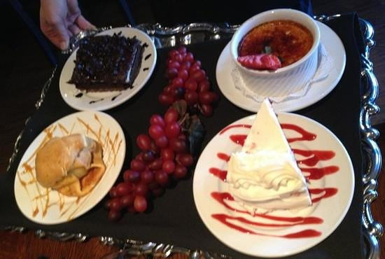 Tavern Grille: What a dessert tray!!
