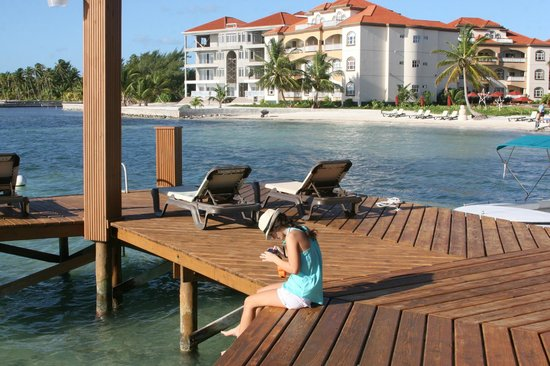 Grand Caribe Belize Resort and Condominiums:                   Dock at Grand Caribe