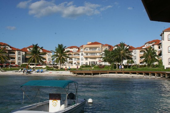 Grand Caribe Belize Resort and Condominiums:                   Grand Caribe picture from dock