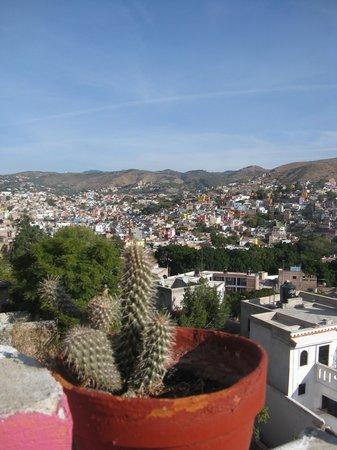 Casa de Dante Hostel: Guanajuato, vue du balcon