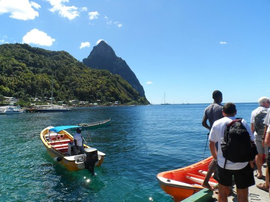Cosol Tours:                   Water taxi to Pitons