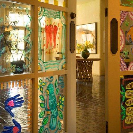 Gardunos Restaurant & Cantina: Painted Doors at Cafe Plazuela at Hotel Albuquerque