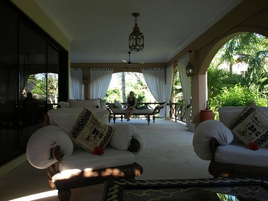 Almanara Luxury Villas:                   The other end of the veranda