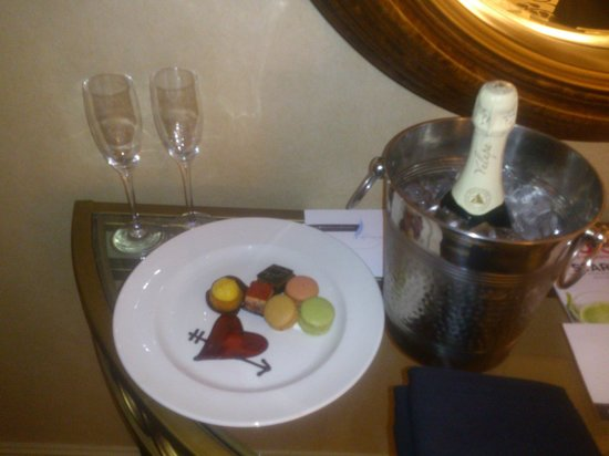 Omni Charlotte Hotel:                   Birthday Champagne and Sweet Treats