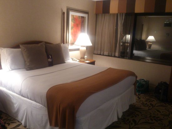 Omni Charlotte Hotel:                   King-size bed in suite