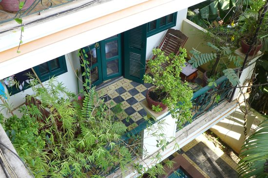 Golden Banana Boutique Hotel:                   superior room balcony, old building