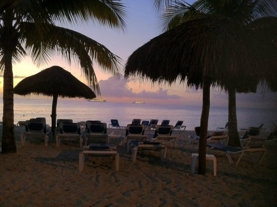 Allegro Cozumel: Plage coucher de soleil