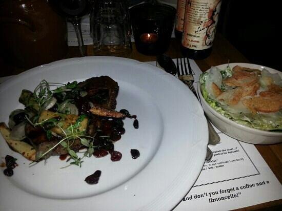 Tony's: steak and cesar salad