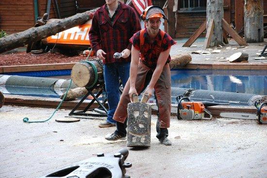Great Alaskan Lumberjack Show: Joking around