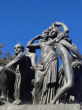 Statues in the Placa de Catalunya, - Picture of Plaza de Cataluna ...