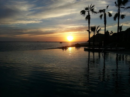 Grand Solmar Land's End Resort & Spa:                   Sunset Pool at sunset