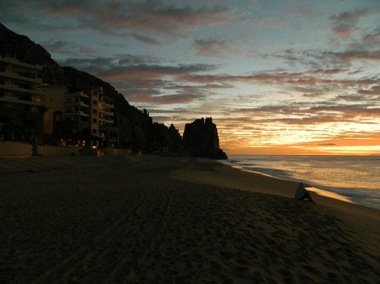 Grand Solmar Land's End Resort & Spa:                   Grand Solmar from beach at sunrise