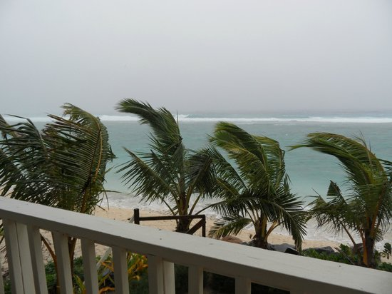 The Edgewater Resort & Spa: Loved watching the weather from our room