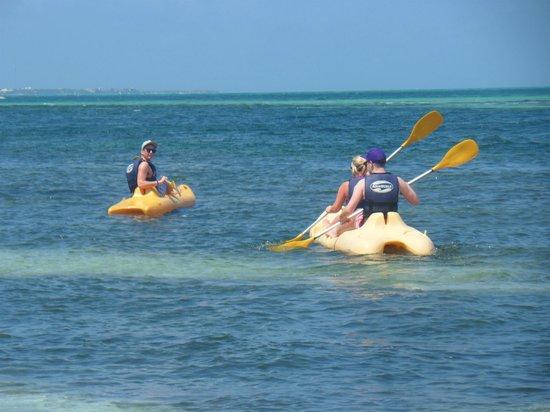 Occidental Costa Cancun:                   canoeing at beach!
