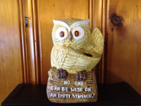The Green Owl:                   You will get better one liners from the waitress