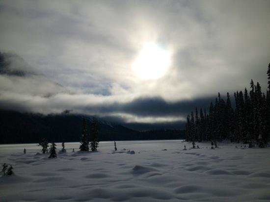 Emerald Lake Lodge: view while skiing