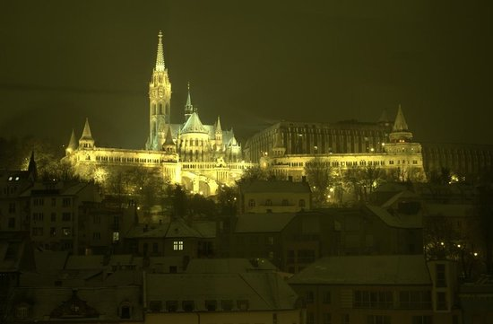 art'otel budapest:                   NIght view of Buda Castle