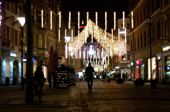 Renaissance Malmo Hotel: pretty walking through the town at night